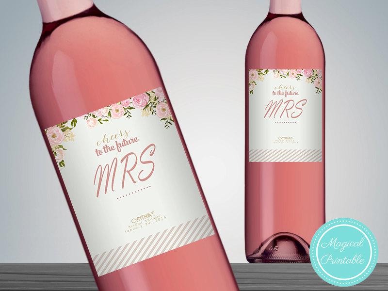 image regarding Printable Wine Bottle Labels identified as Custom made Classy Purple Wine Bottle Labels WC25