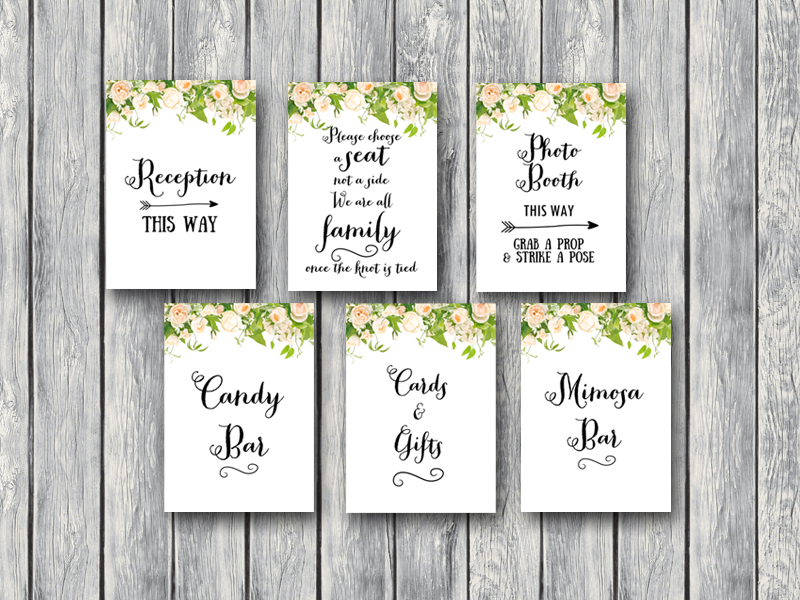 photo regarding Printable Bridal Shower Signs referred to as Obtain Peonies Floral Marriage ceremony Signs or symptoms