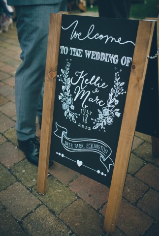 We Love: Rustic, Personalised Wedding Chalk Boards from Canary Gem Craft Co | British wedding blog - Bride and Tonic