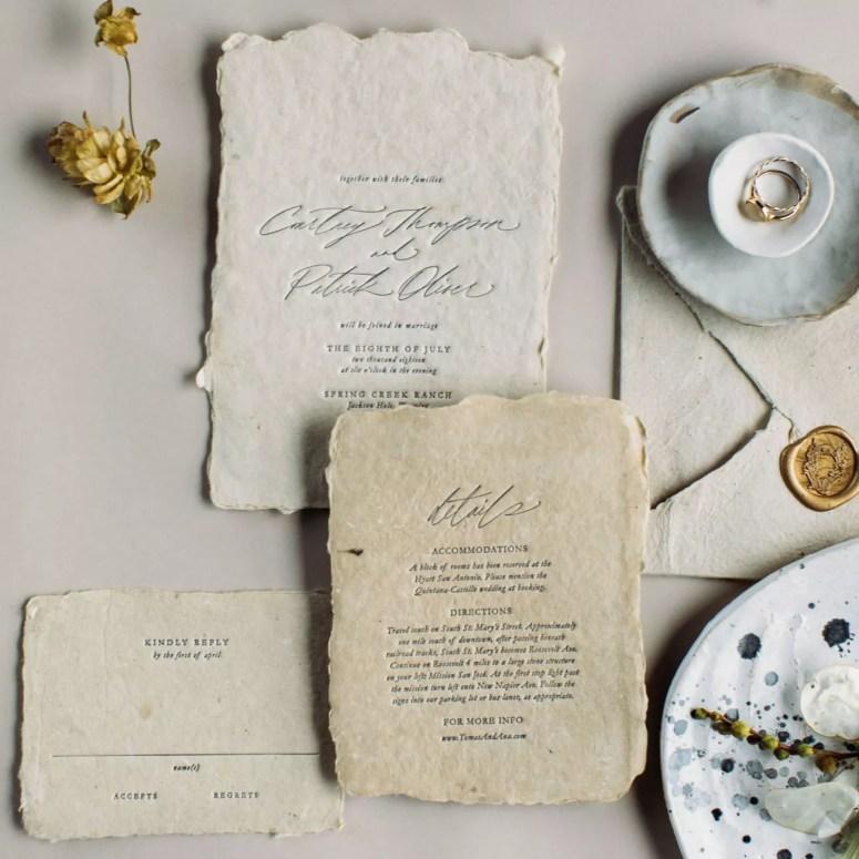 linen invitation