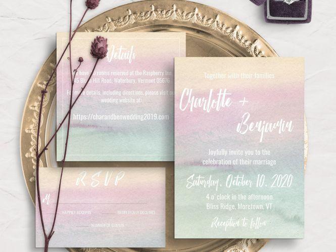 11 Watercolor Wedding Invitations That
