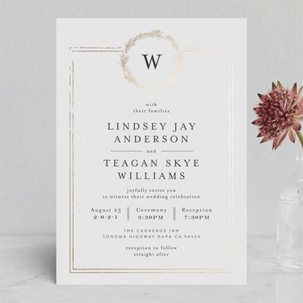 Royal Wedding Inspired Invitations From Minted You Can Get