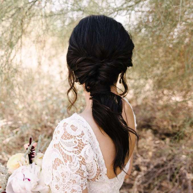 20 wedding ponytail hairstyles for the modern, romantic, and