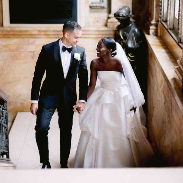 an elegant wedding at providence public library in rhode island