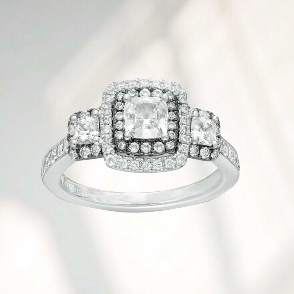 cushion cut engagement rings the
