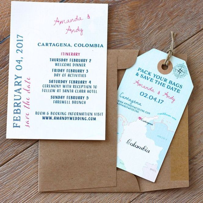 Invitations And Stationery For A Destination Wedding
