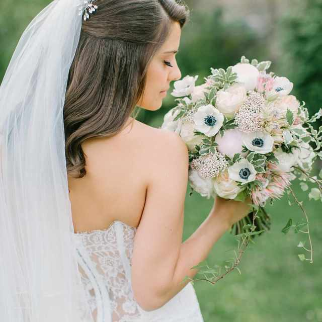 27 gorgeous half up half down wedding hairstyles
