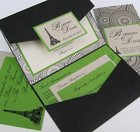 Delicate Ivory Lace Cut Out Tri Fold Wedding Invitation Set Of 50