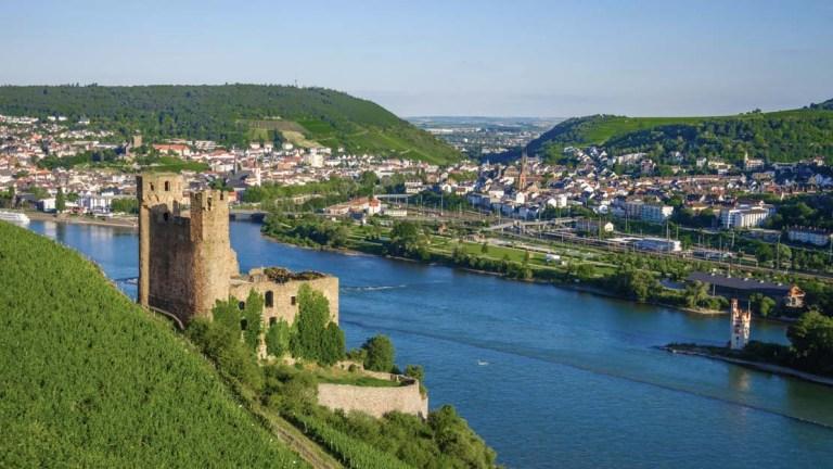 escale Rüdesheim croisière bridge sur le Rhin