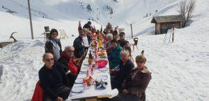 Raclette à Morzine ski et bridge