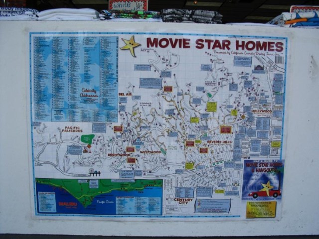 Hollywood Celebrity Homes Map   New House Designs Here S What A Map To The Stars Homes Looked Like In 1937 Curbed La