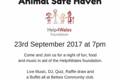 Animal Safe Haven – Bettws Club 23rd September