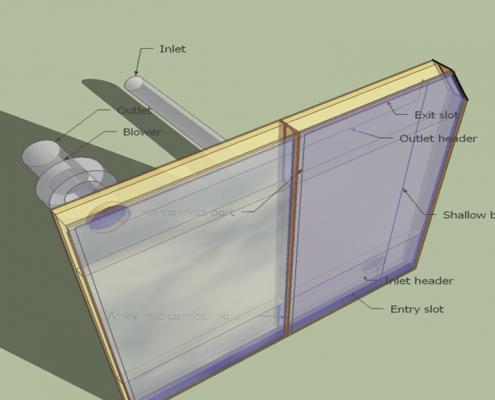 Solar Air Heating panels
