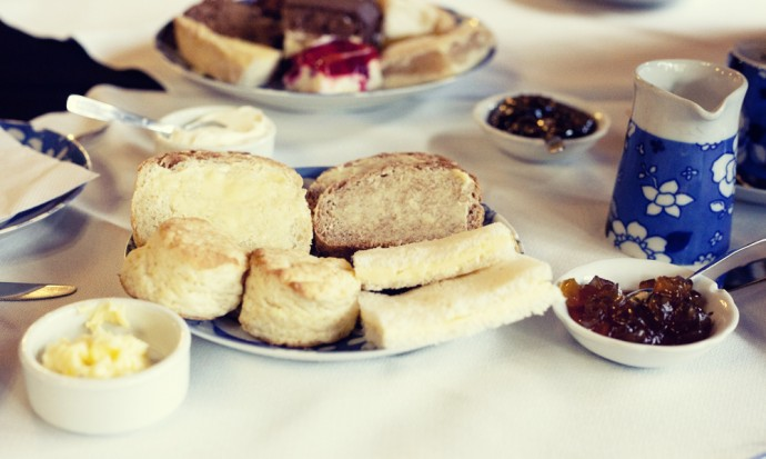 Bread and sandwiches at the tea service in Gaiman