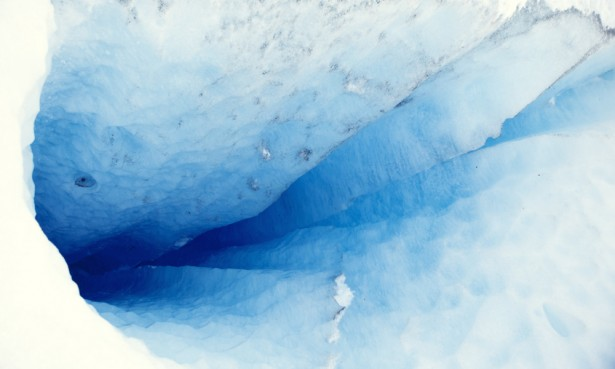 Peering into the crevasse, Perito Moreno