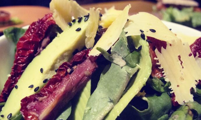 Delicious salad in Capilla del Monte