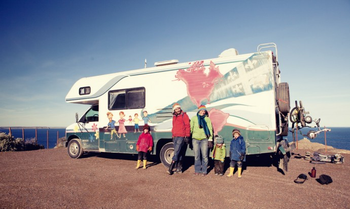 Family who travelled from Canada to Patagonia