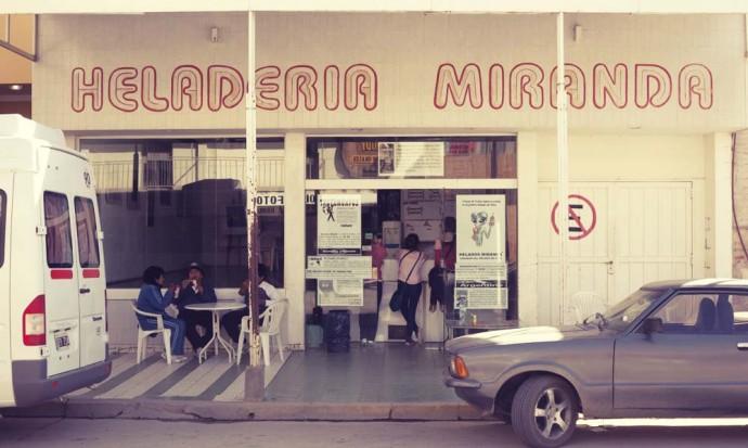 Fine ice-cream at the Heladeria Miranda, Cafayate