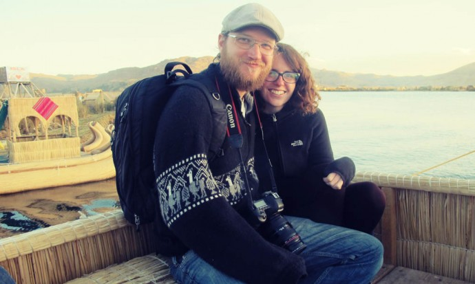 At the floating islands on Titicaca