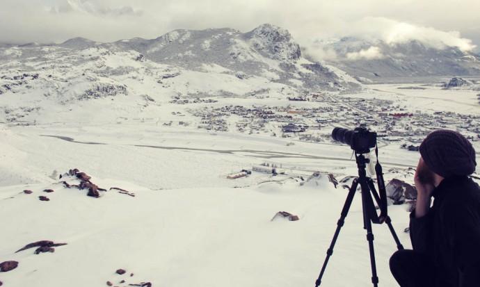 Filming timelapses above El Chalten