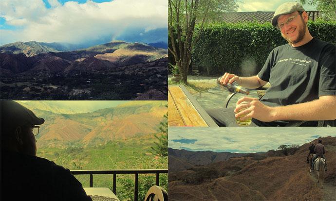 View from Izhcayluma Vilcabamba Ecuador