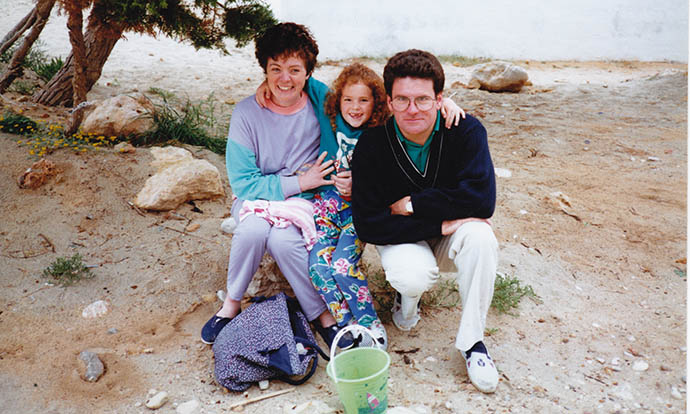 My Mum, Dad and I on holiday in Ibiza back in the 80s