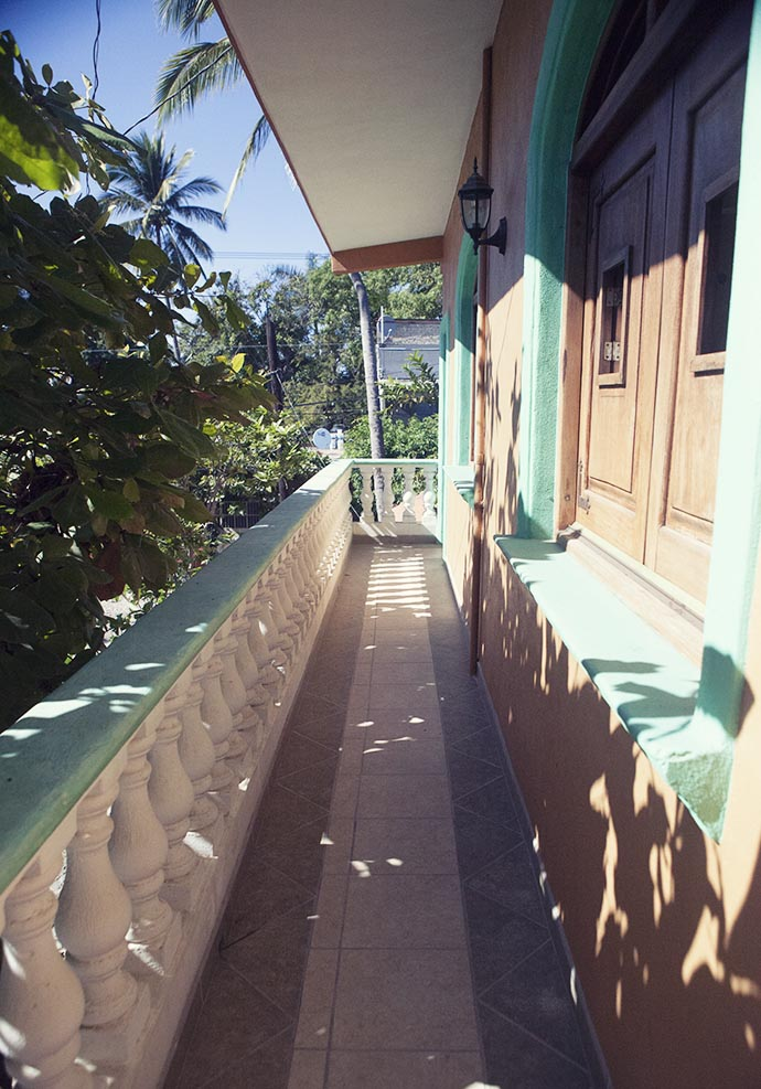 Balcony San Pancho Mexico apartment