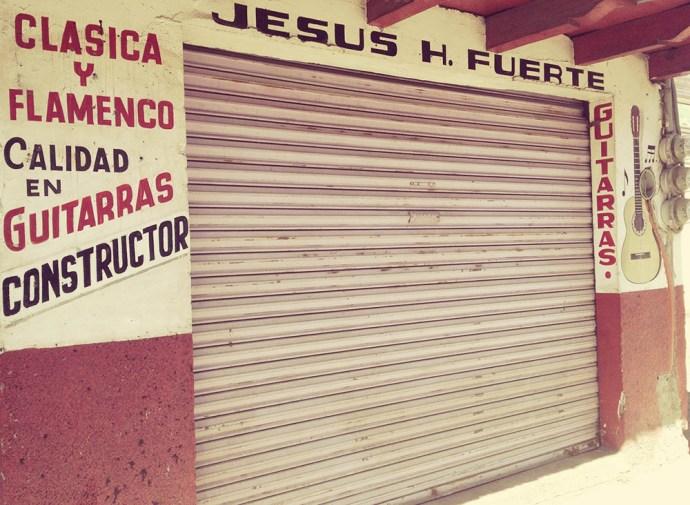 Jesus makes guitars