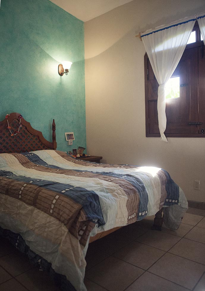 Our bedroom San Pancho, Mexico