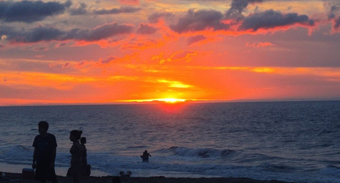 San Pancho fire sunset