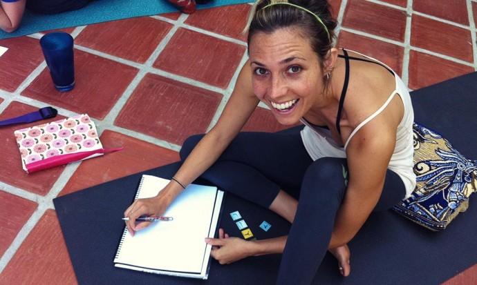 Student at yoga teacher training