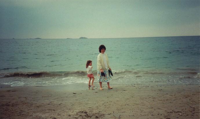 Mum and I on the beach