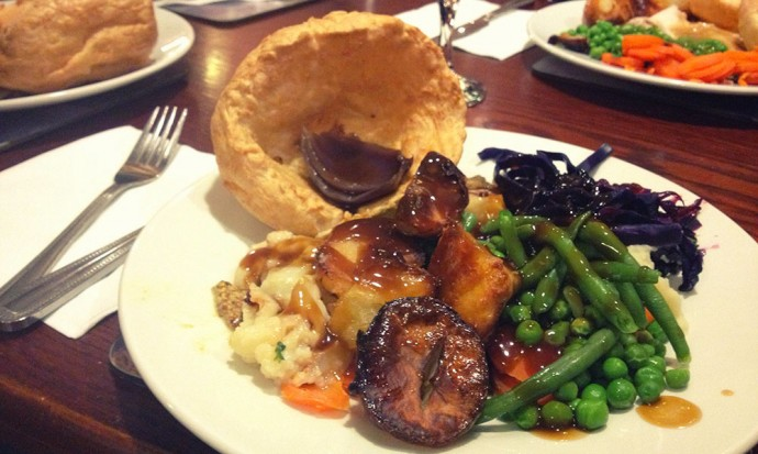 Vegetarian roast dinner UK