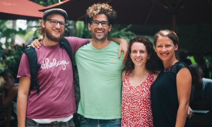 Ori, Sam, Steve and Victoria in Ubud
