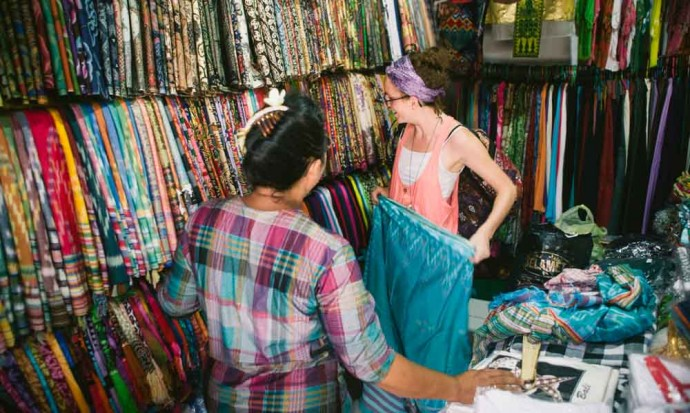 Shopping in Ubud market