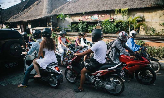 Traffic in Ubud