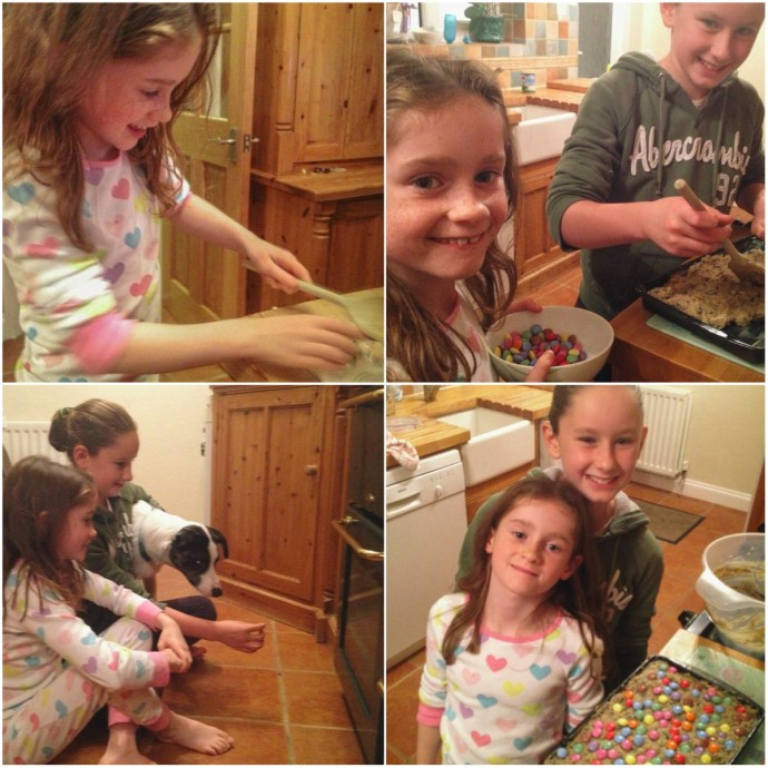 Baking cakes with my cousins children