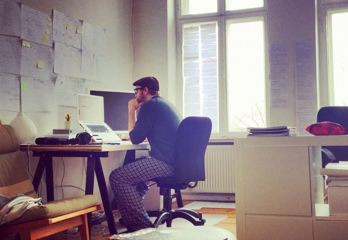 Steve making Planetary in Berlin