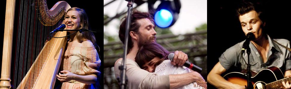 joanna newsom, edward sharpe and the magnetic zeroes and the tallest man on earth