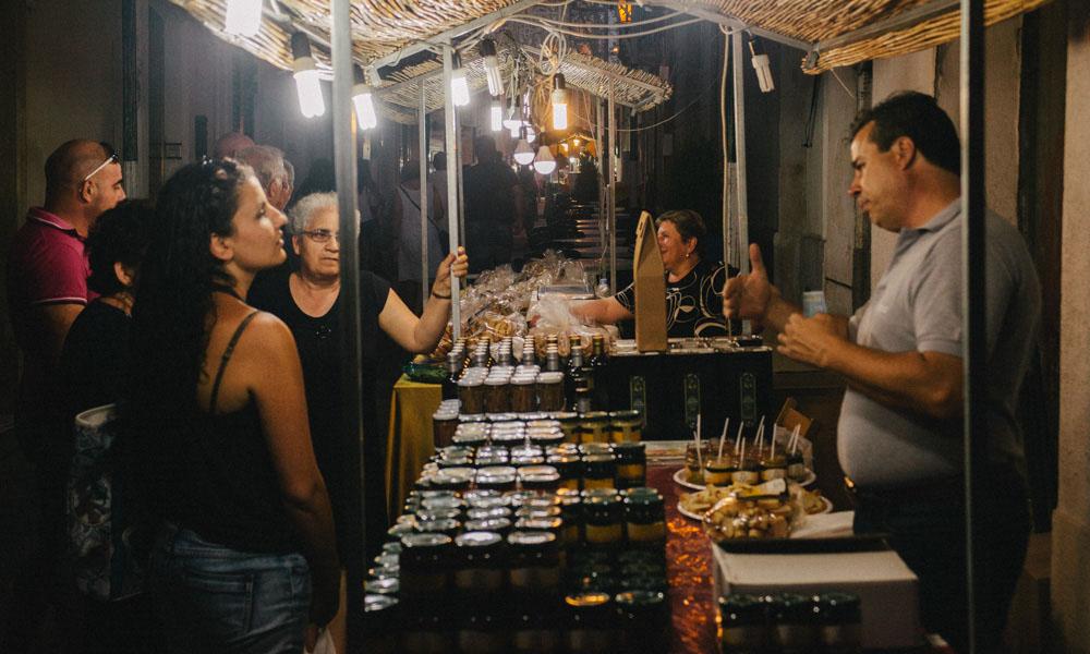Night market in Scorrano for Notte delle Luci