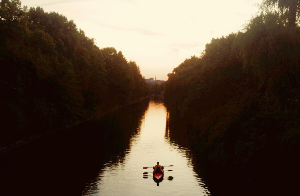 Kayak on Landwehr Canal, Berlin