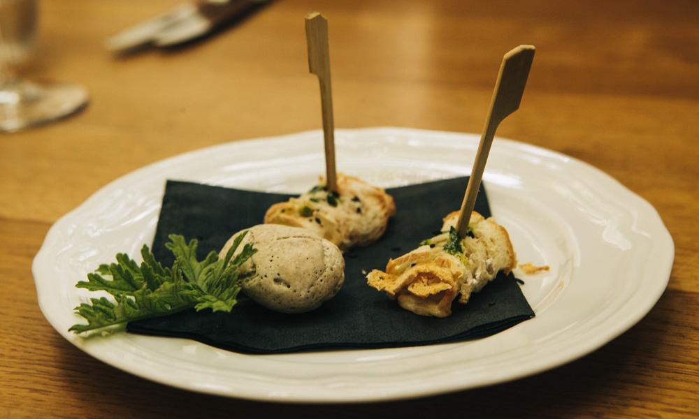 Appetizer at Majerija – one of the best vegetarian restaurants s in Slovenia