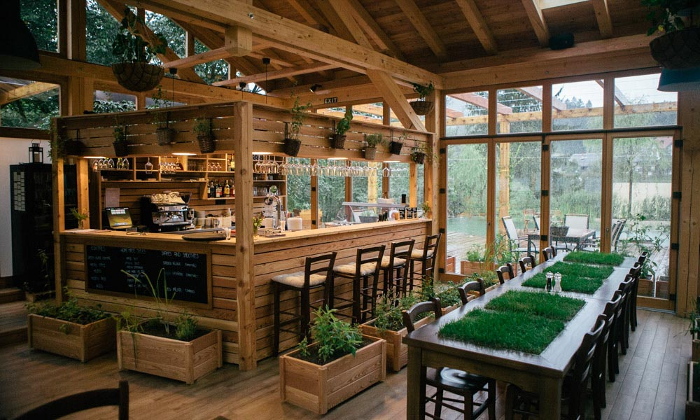 Healthy and organic dining at Garden Village, Lake Bled