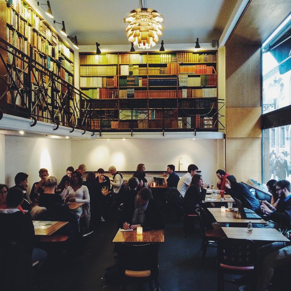 Inside Cafe Paludan, Copenhagen