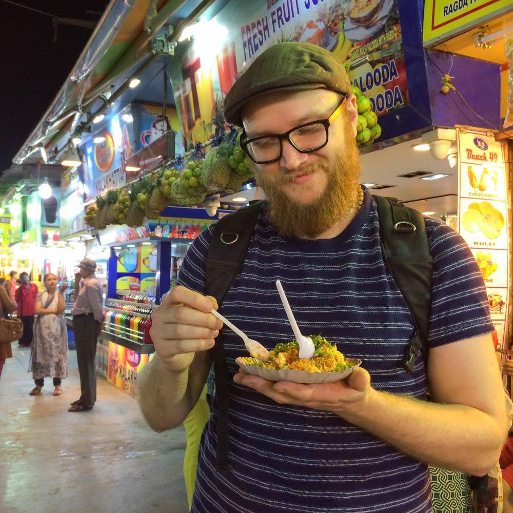 Street food market in Mumbai