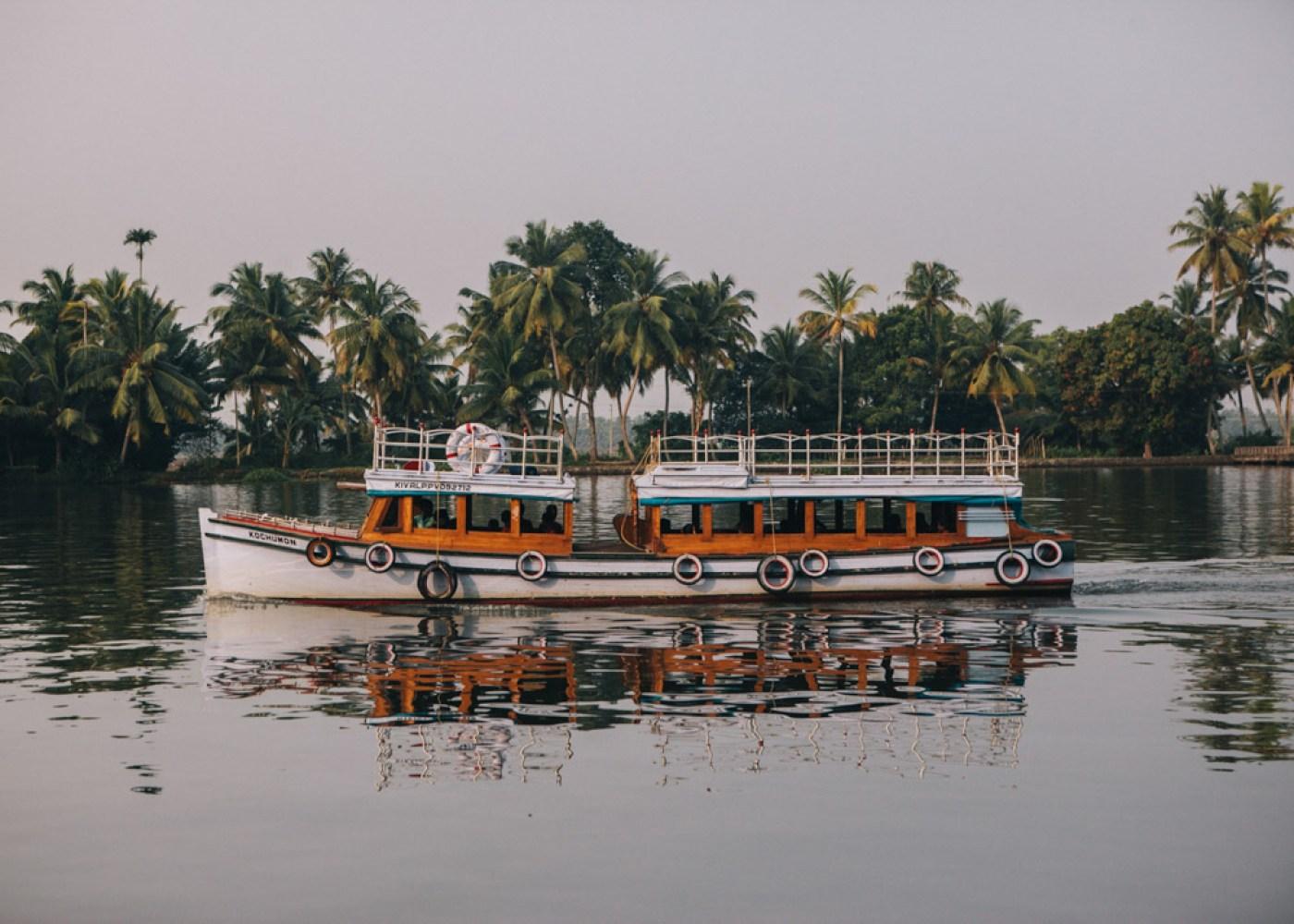 Boat in Kerala backwaters