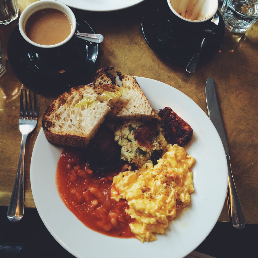 The best vegetarian breakfast in London at No.67