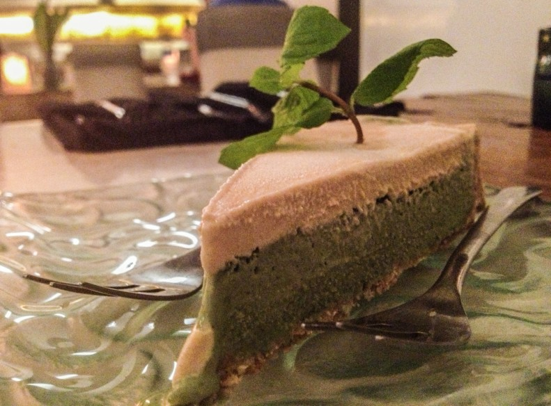 Raw cheesecake at Clear, Ubud - one of the best veggie restuarants