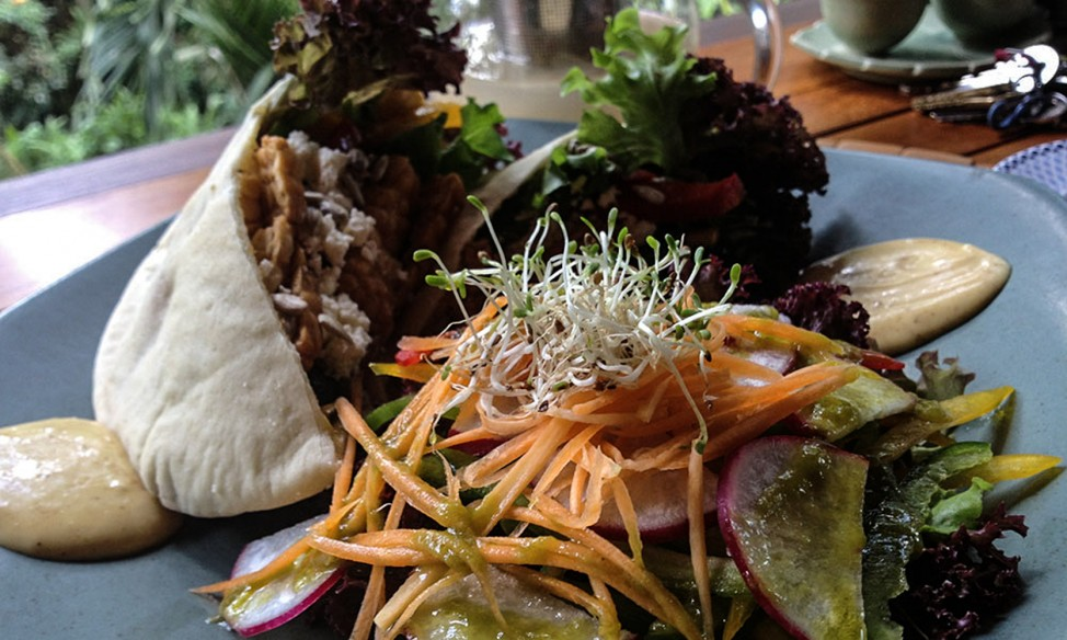 Vegetarian food at Taksu, Ubud, one of Ubud's best vegetarian restuarants