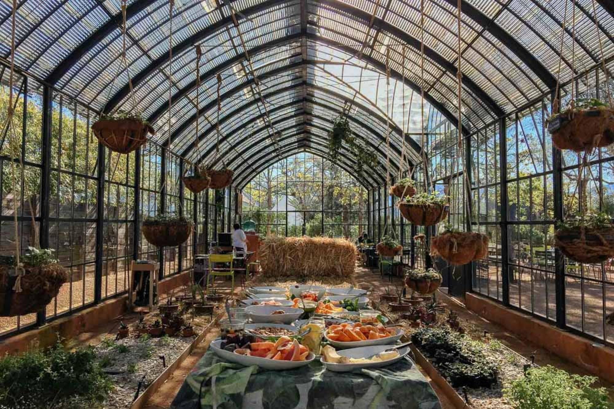 Greenhouse restaurant at Babylonstoren